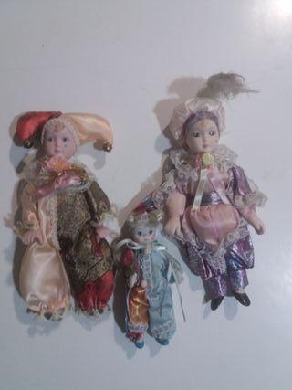 Lote de 3 figuras porcelana (bufones)