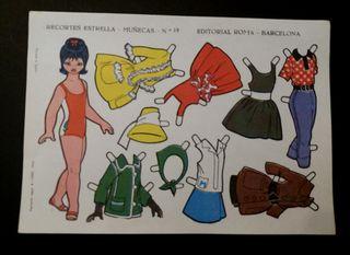 Lámina Recortes Estrella muñecas n. 19 año 1963