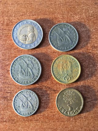 Monedas Escudos Portugueses