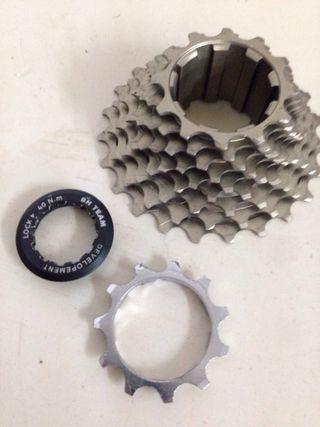 Piñón Bh titanio 10 v compatible shimano