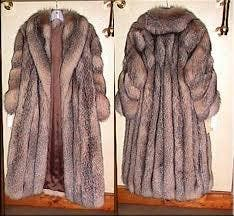 Long fur coat size 10