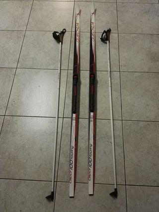 Esquí de fondo y palos