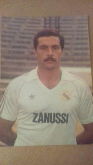 Postal jugador real Madrid 83/84