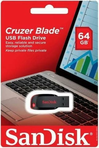 Pendrive 64 GB SANDISK Cruzer Blade