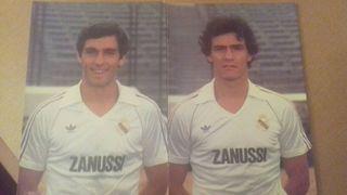 2 postales de jugadores real Madrid 83/84