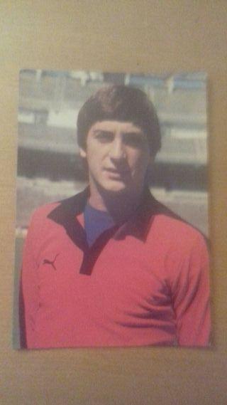 Postal del portero real Madrid 83/84