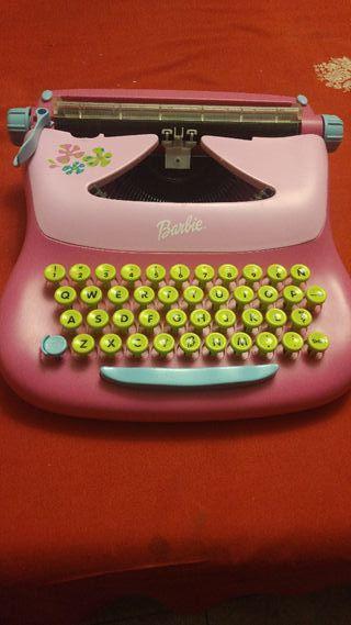 Máquina de escribir de Barbie