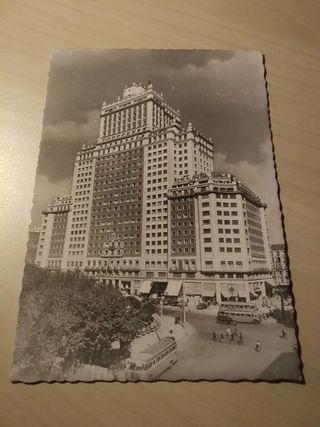 Postal Madrid. Edificio España.