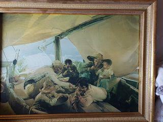 Mongiando in barca