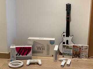 Wii + Guitar Hero + Guitarra + Wii Sport