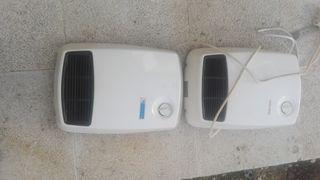 2 calefactores de aire caliente