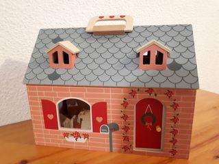 Juego Casa muñeca de madera