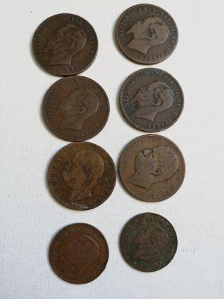 modeda de Italia 10 céntimos desde 1866 y 5 centim