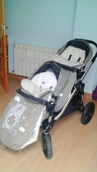Carro gemelar silla