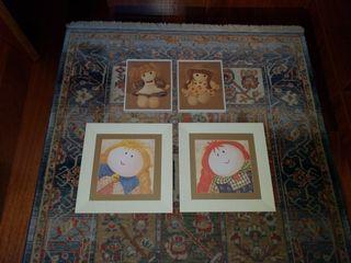 Pack de 4 cuadros para habitación infantil