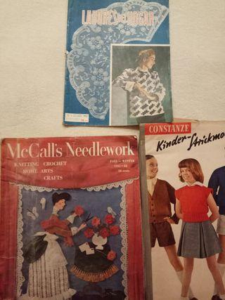 Revistas antiguas de labores del hogar