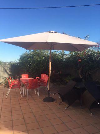 Sombrilla terraza de segunda mano en wallapop - Sombrilla de terraza ...