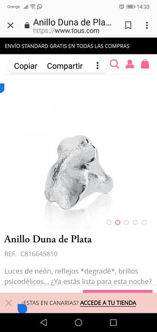 Anillo Duna Tous