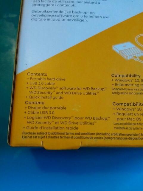 WD My Passport - Disco Duro portátil de 4TB PC/MAC