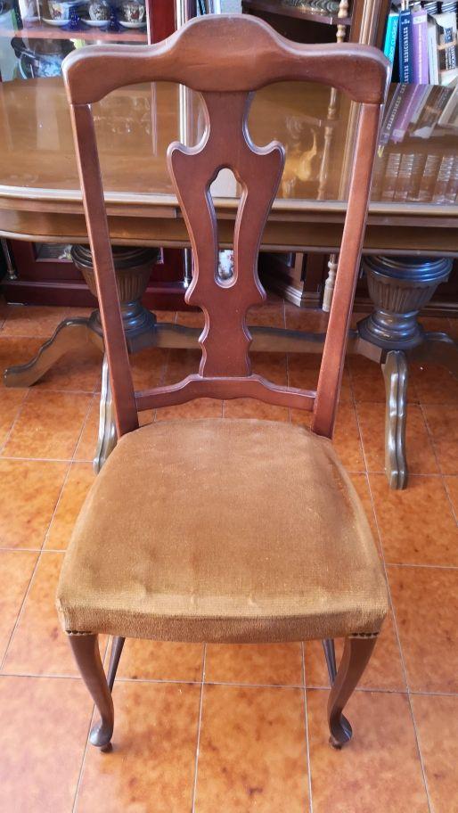 Mesa madera extensible y 6 sillas