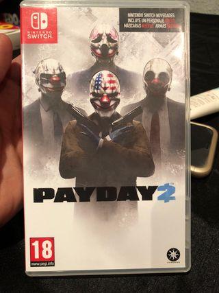 Payday 2 Nintendo Switch o cambio