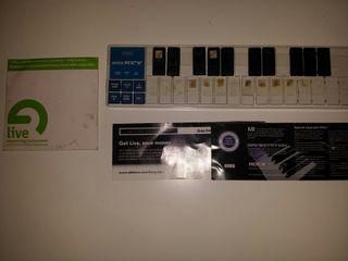 USB Midi Teclados mini KORG nanokey
