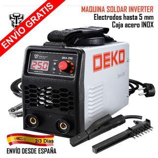 MAQUINA SOLDAR INVERTER ARCO ELÉCTRICO 250 Amp.