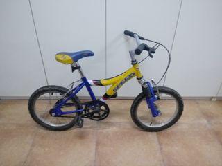 """Bicicleta niño 16"""" pulgadas"""