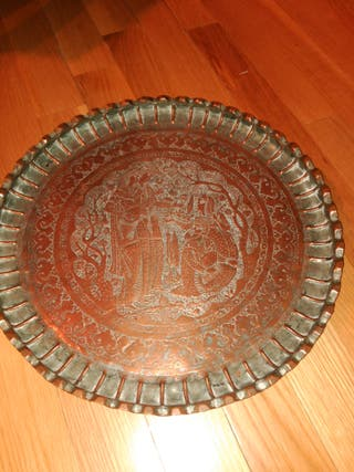 antiguo plato Persa gran tamaño
