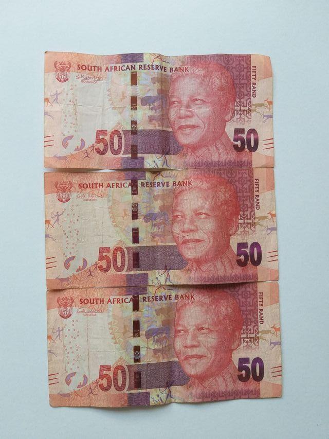 Billetes 50 Rand Nelson Mandela