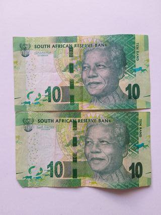 Billetes 10 Rand Nelson Mandela