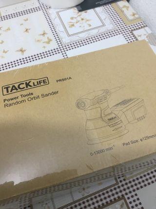 Lijadora circular Tacklife 350w 6 veloc Nueva