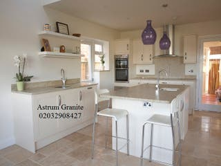 Buy Ambar White Granite Kitchen Worktop in United