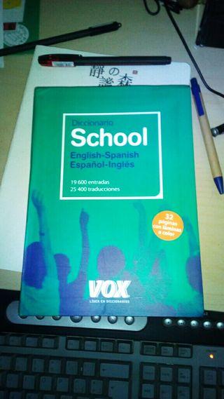 Diccionario inglés español escolar