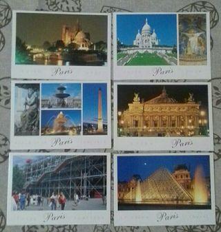 12x Postales de París - Lugares emblemáticos