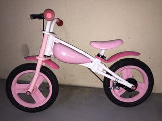 Bicicleta sin pedales rosa 12'