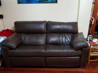 sofá relax de piel 3 plazas