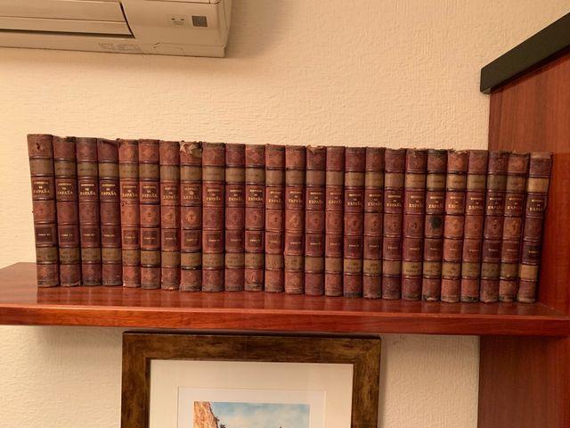 HISTORIA DE ESPAÑA Lafuente. Los 25 tomos (a.1889)