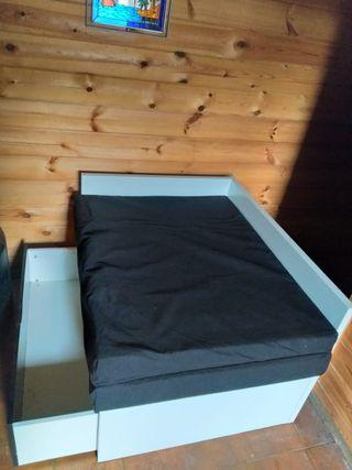 Cama plegable de segunda mano en la provincia de asturias en wallapop - Wallapop asturias muebles ...
