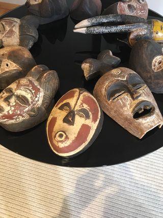 Conjunto máscaras auténticas africanas