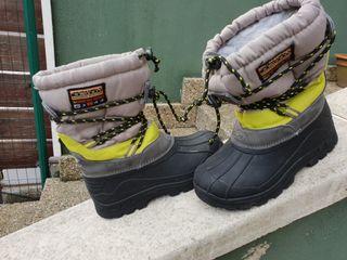 botas de nieve, talla 33/34