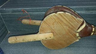 Antigua pava azufradora de madera