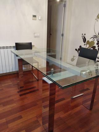 Mesa comedor de cristal de segunda mano en Lleida en WALLAPOP