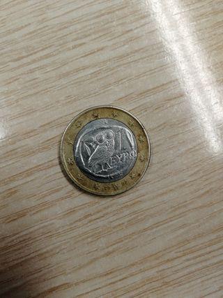 Moneda búho griega de euro