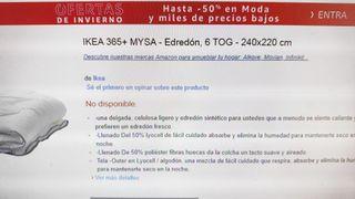 Edredon grande IKEA 365+ MYSA y regalo funda.