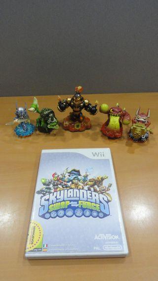 Juego Wii Skylanders Swap-Force + figuras