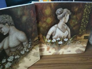 Cuadros de bustos en lienzos