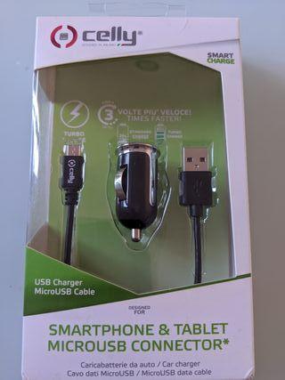 CARGADOR COCHE MICRO USB 2.4 AMP