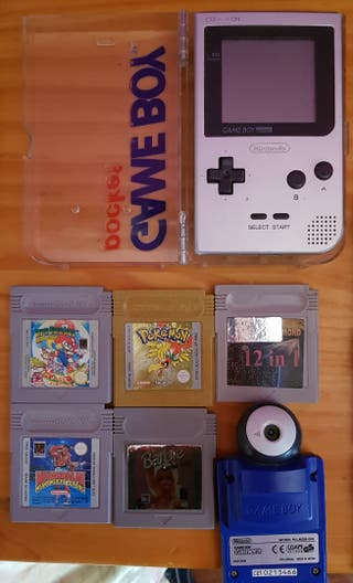 game boy pocket color plata +18 juegos