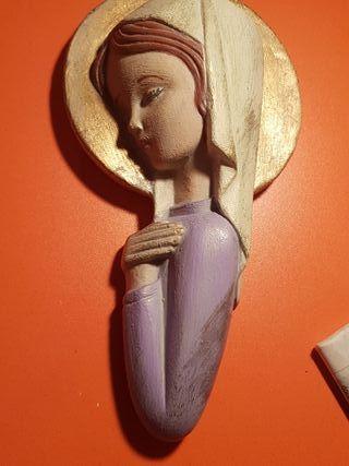 Virgen pintada a mano